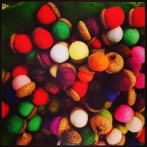 felted acorns